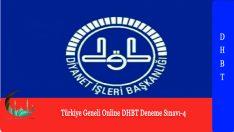 Türkiye Geneli Online DHBT Deneme Sınavı-4