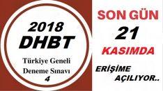 Türkiye Geneli Dhbt Deneme Sınavı-4 Yarın Başlıyor !