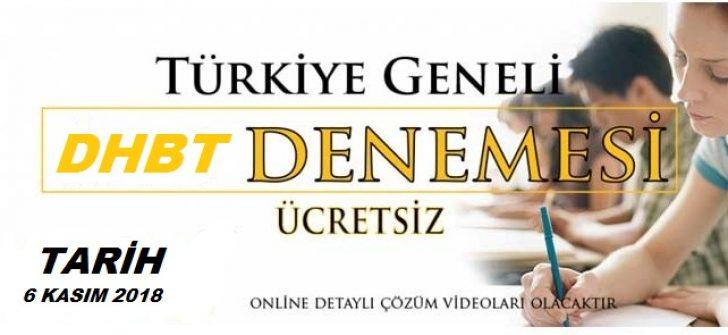 Türkiye Geneli Dhbt Deneme Sınavı Yarın Başlıyor !