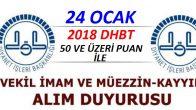 2018 DHBT İle Vekil İmam Hatip ve Müezzin Kayyım Sınav İlanı !