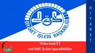 Türkiye Geneli 2018 DHBT İle Alım Yapan Müftülükler