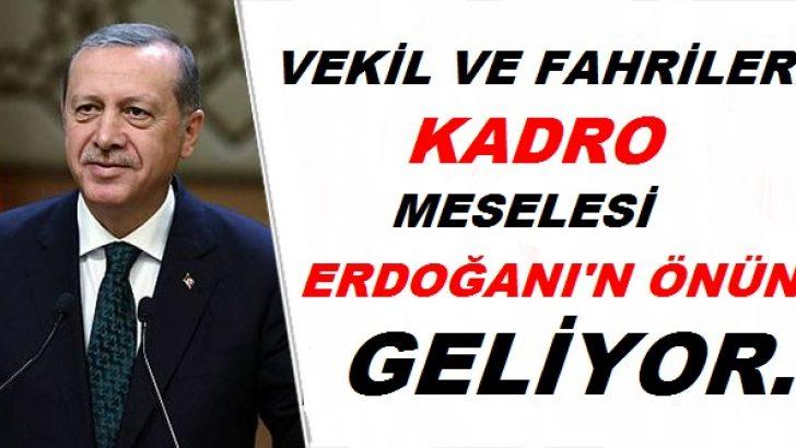 Flaş ! Vekil ve Fahrilere Kadro Meselesi Erdoğan'ın Önüne Geliyor !