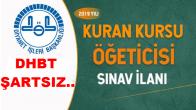 2019 Yılı Fahri Kur'an Kursu Öğreticisi Alım İlanı !