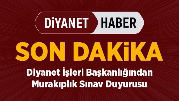 Diyanet'ten 2019 Yılı Murakıplık Sınav Duyurusu