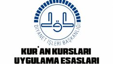 Diyanet 2019-2020 Eğitim-Öğretim Yili Kur'an Kurslari Uygulama Esaslari