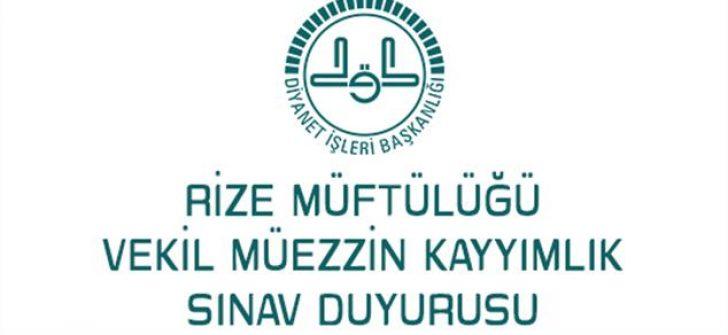 Vekil Müezzin-Kayyımlık Sınav Duyurusu