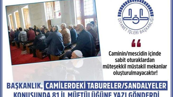 DİYANET İŞLERİ BAŞKANLIĞI'NDAN TABURE/SANDALYE GENELGESİ!