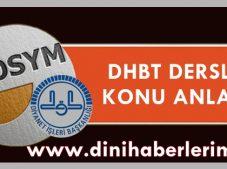 DHBT Konu Anlatım Dersleri