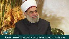 İslam Alimi Prof. Dr. Veliyuddin Farfur Vefat Etti