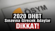 2020 Yılı DHBT ve MBSTS'ye İlişkin Duyuru