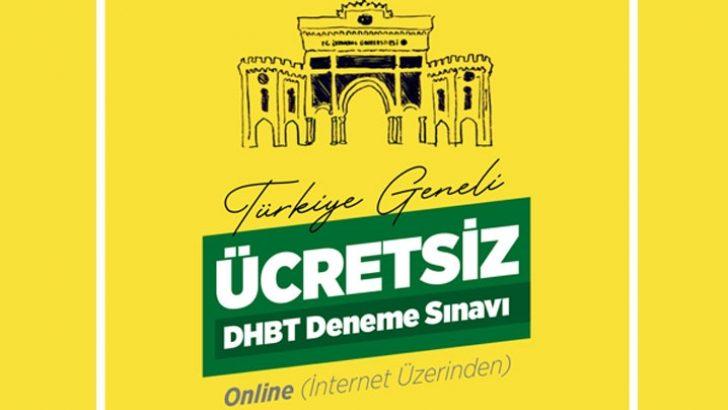 İstanbul Üniversitesi'nden Türkiye Geneli DHBT Deneme Sınavı
